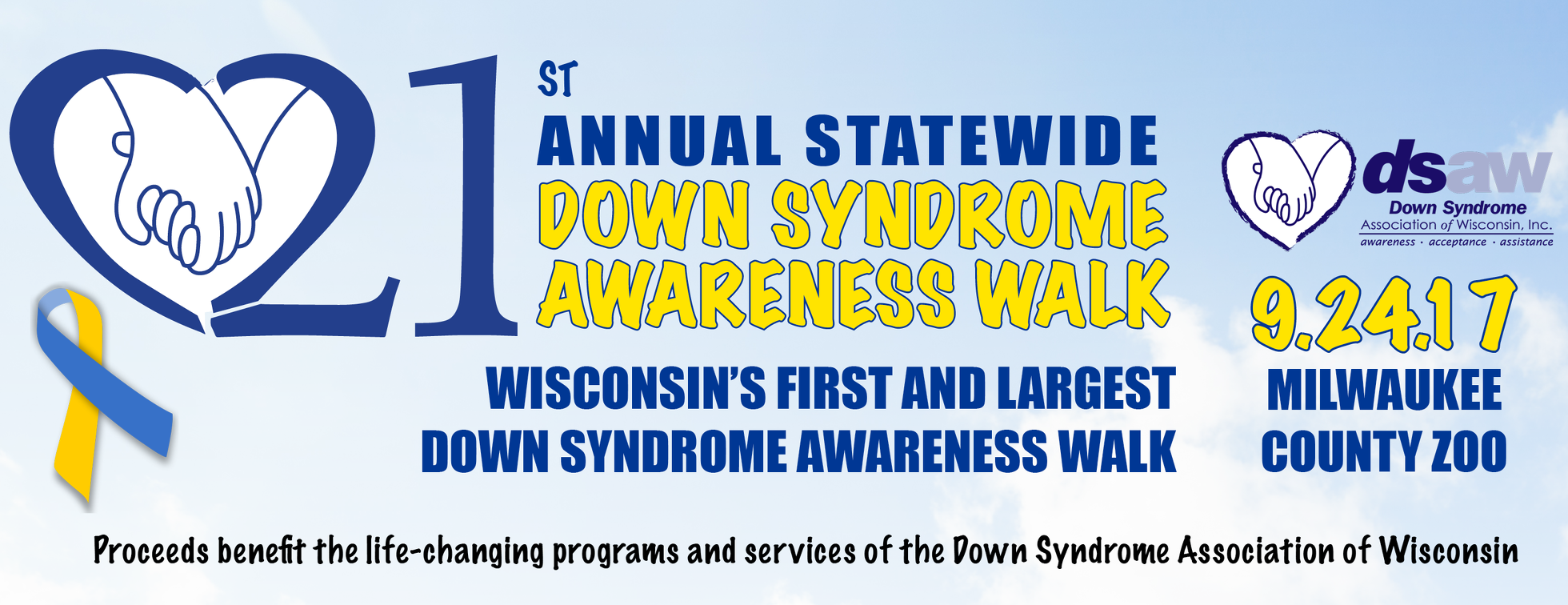 21st Annual Statewide Down Syndrome Awareness Walk & 5K Run, Roll & Stroll